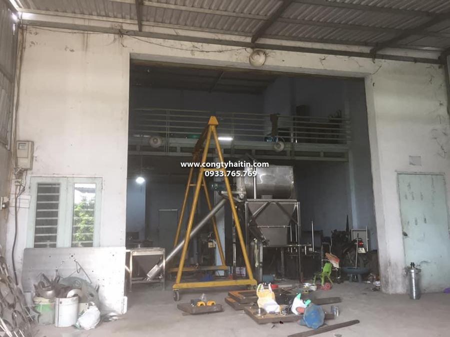 hệ thống máy trộn bột inox